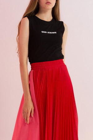 God Knows Embroidered Tie-Back Top - AMENPAPA Fashion