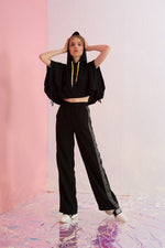 Amen Grosgrain-Trimmed Wide-leg Pants