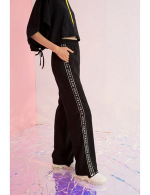Amen Grosgrain-Trimmed Wide-leg Pants - AMENPAPA Fashion