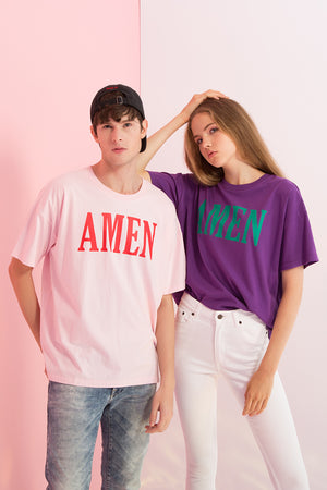 Oversized Amen Printed Tee - AMENPAPA Fashion