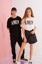 Oversized Amen Printed Tee