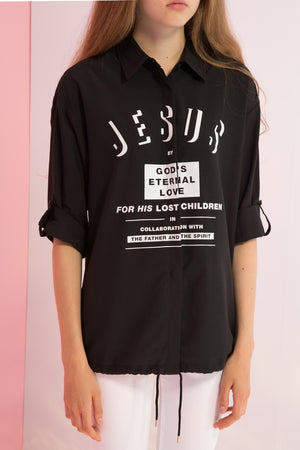 Jesus Printed Short Sleeves Shirt - AMENPAPA Fashion