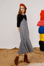 Houndstooth Maxi T-Shirt Dress