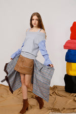 Asymmetric Wrap Effect Mini Skirt