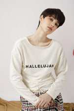 Hallelujah Printed Jersey Top - AMENPAPA Fashion