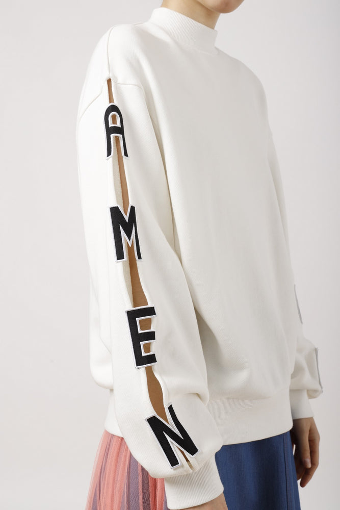 AMEN Appliqued Cut Out Sweatshirt - AMENPAPA Fashion