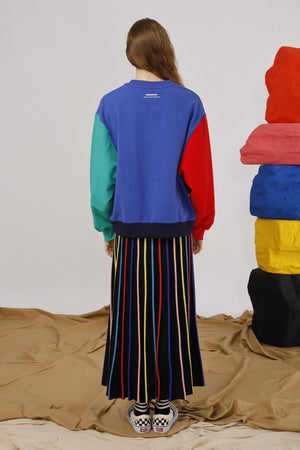 Miracle Embroidered Color-Block Sweatshirt - AMENPAPA Fashion