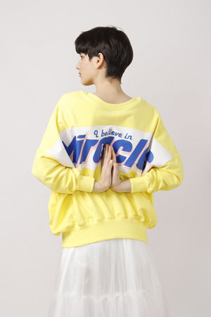 2ways Oversized Miracles Printed Sweat Top - AMENPAPA Fashion