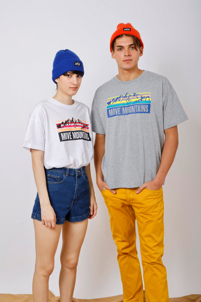 Unisex Move Mountains Printed Tee - AMENPAPA Fashion