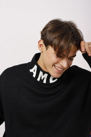 Unisex AMEN Intarsia Turtleneck Sweater