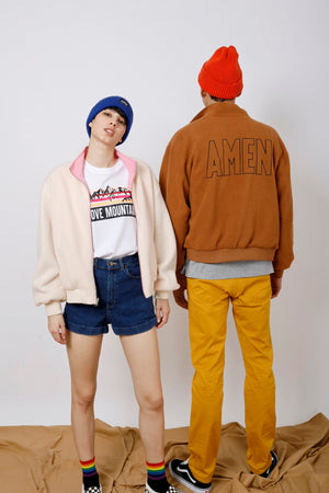 Unisex Reversible AMEN Embroidered Jacket - AMENPAPA Fashion