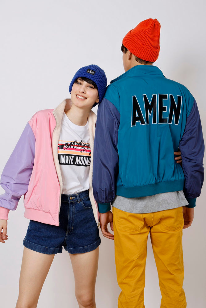 Unisex Reversible AMEN Embroidered Jacket