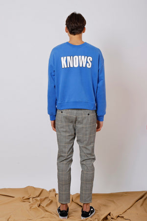 Unisex 2-way GOD KNOWS Printed Sweatshirt