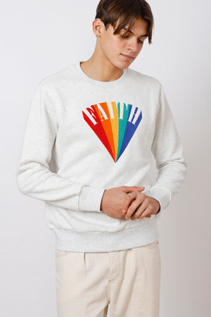 Unisex Faith Rainbow Embroidered Sweatshirt