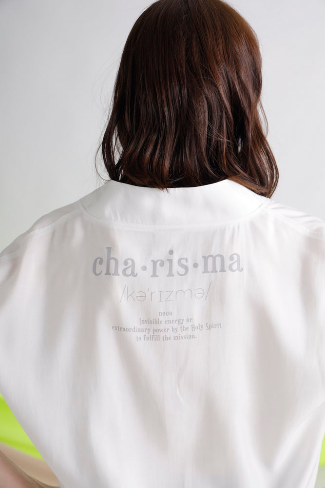 Charisma printed V-neck top