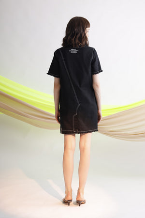 Life as a race embroidered oversize dress