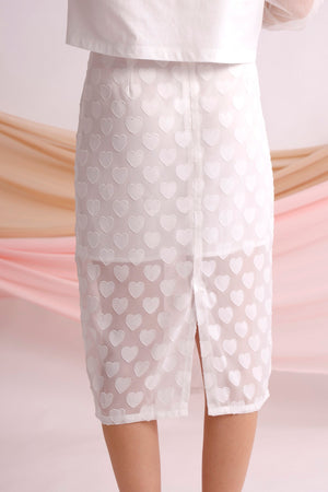 Heart appliqued skirt