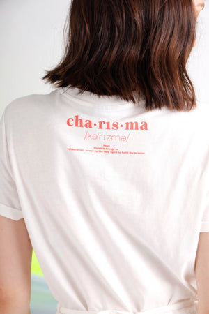 Charisma embroidered guipure lace paneled tee