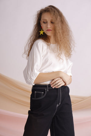 Two-sides cropped top