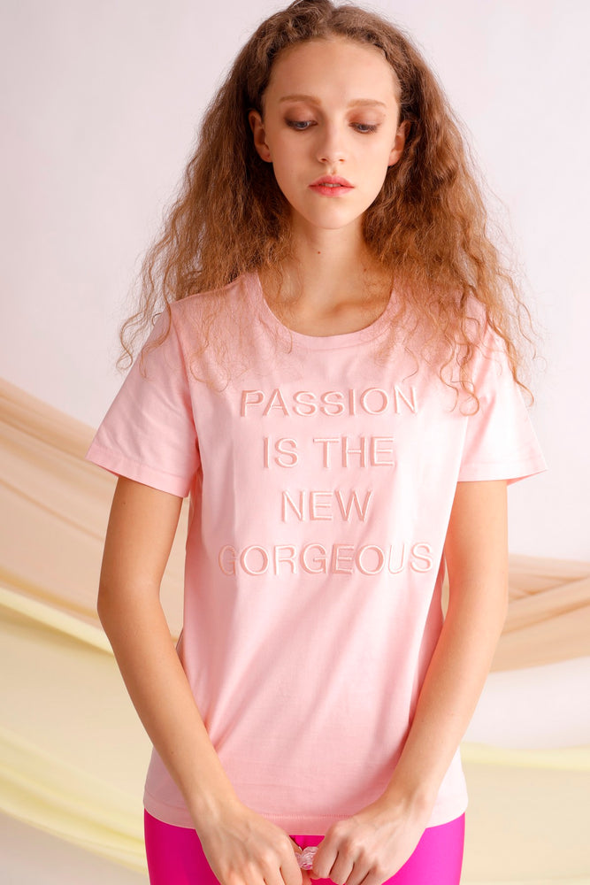 Passion is the new gorgeous embroidered tee