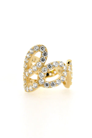 Love Pave Silver Ring