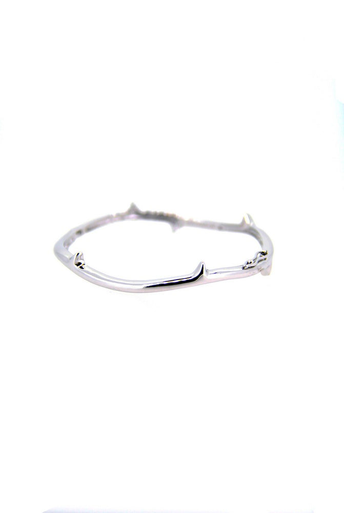 Thorn Silver Bangle