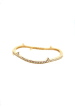 Thorn Pave Silver Bangle