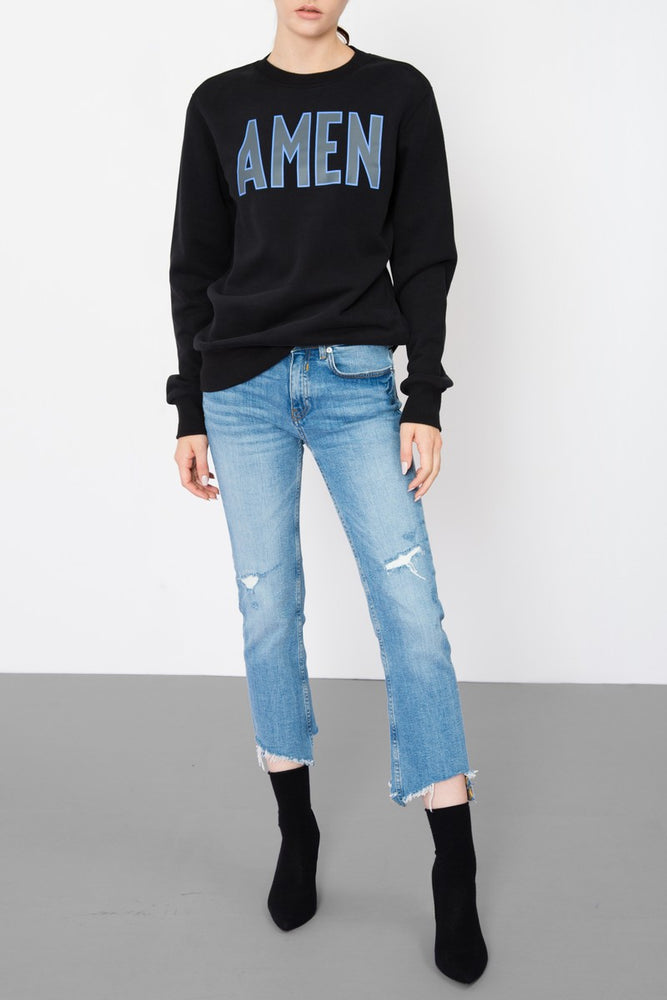 AMEN Crewneck Printed Sweatshirt - AMENPAPA Fashion