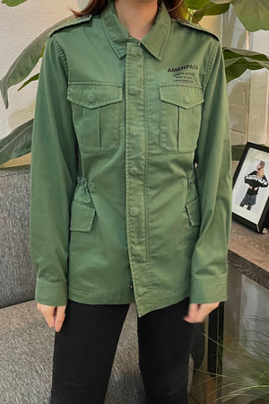 Unisex Walk By Faith Military Parker Jacket