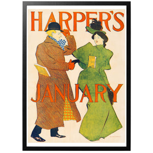 Harper's January Poster - World War Era