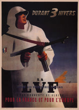 Load image into Gallery viewer, During 3 Winters - LVF Poster - World War Era