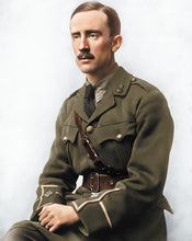 Load image into Gallery viewer, J.R.R. Tolkien Colourized vintage photograph without frame