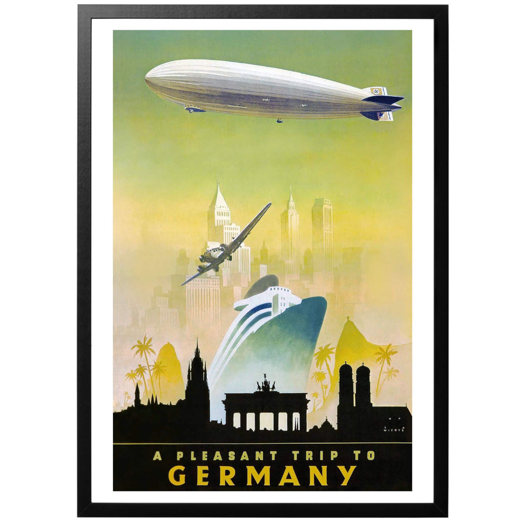 A pleasant trip to Germany Poster - World War Era
