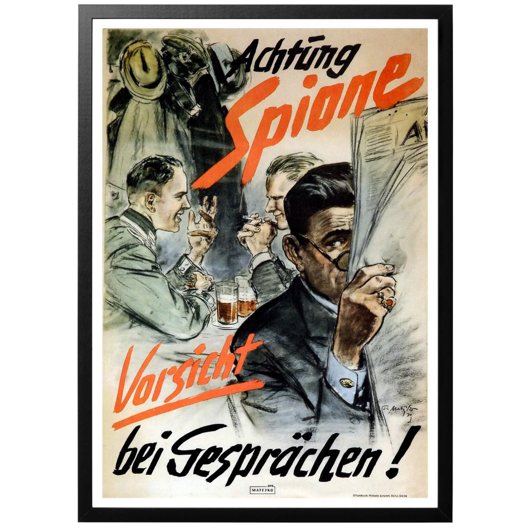 Achtung Spione Poster - World War Era