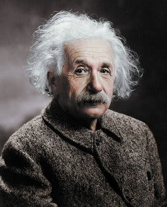 Albert Einstein Photography Colourized without frame