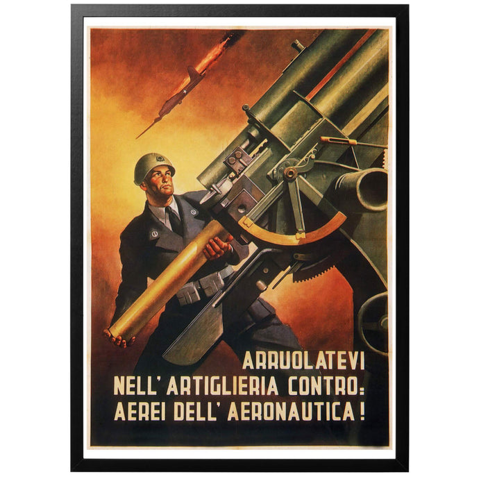 Entlist in the anti-aircraft service! Poster - World War Era
