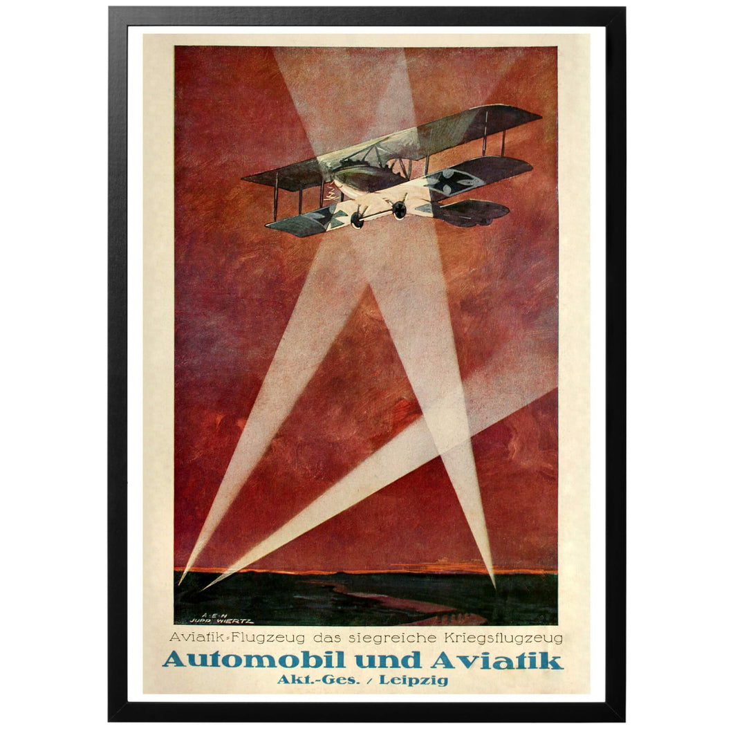 Automobil und Aviatik Leipzig Poster - World War Era - German Poster
