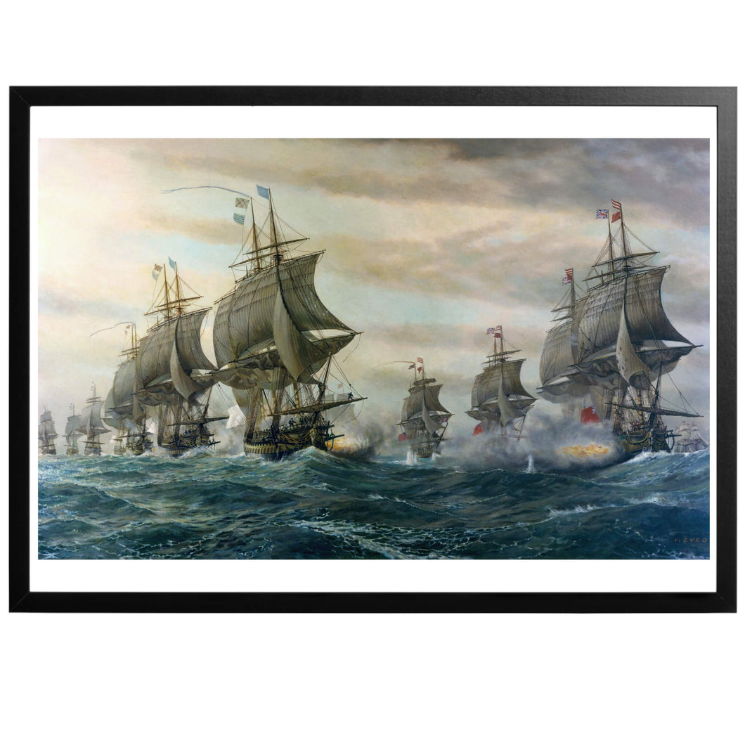Battle Of Virginia Capes Poster - World War Era