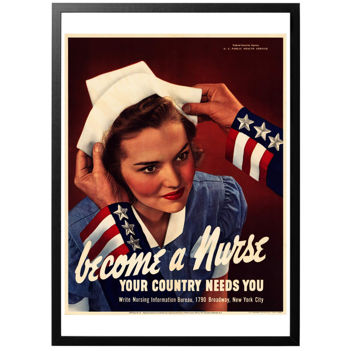 Become a Nurse Poster - World War Era