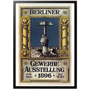 The Great Industrial Exhibition of Berlin 1896 Poster - World War Era