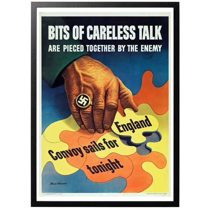 Bits of Careless Talk Poster - World War Era