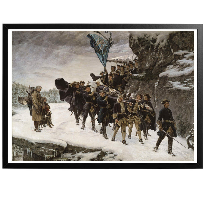 Bringing Home the Body of Charles XII Poster - World War Era