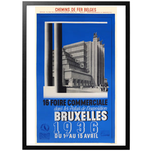 Bruxelles Commercial Fair 1936 Poster - World War Era