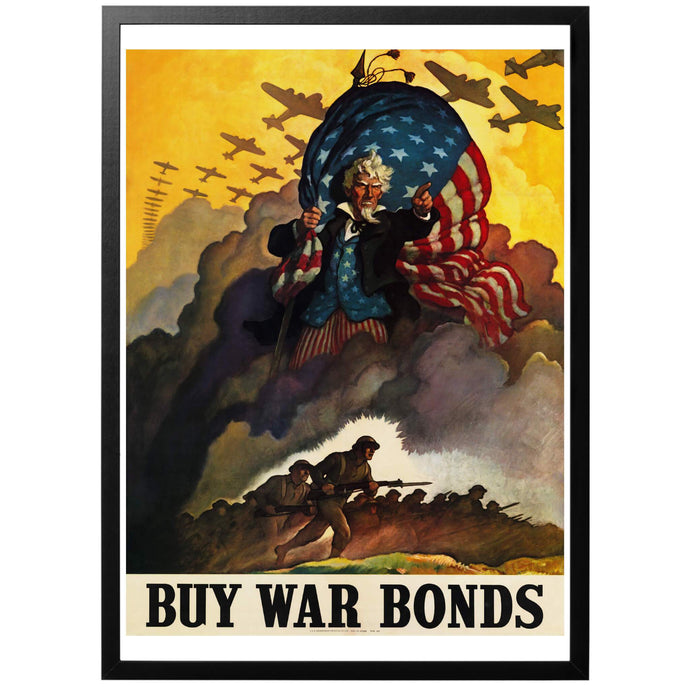 Buy War Bonds Poster - World War Era