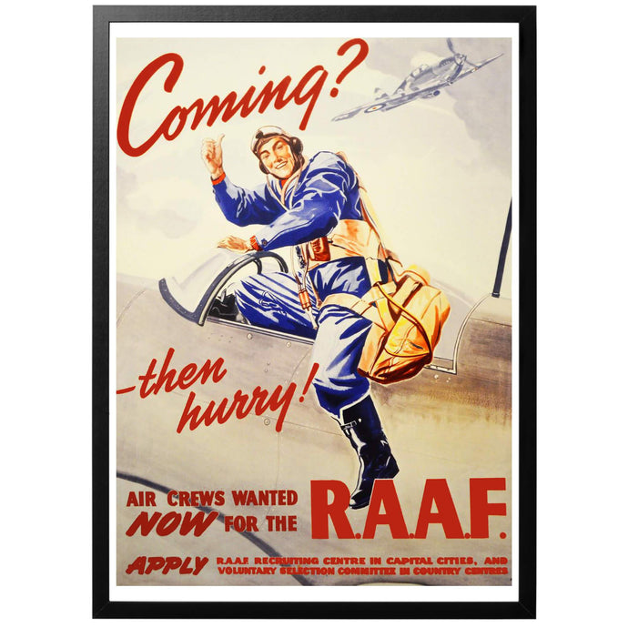 Coming? - Then hurry! Poster - World War Era