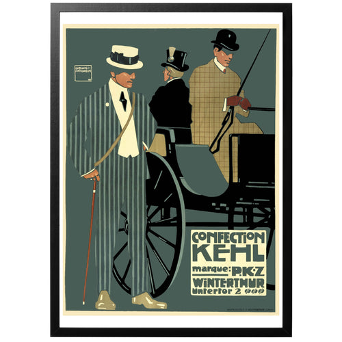 Confection Kehl vintage poster with frame.