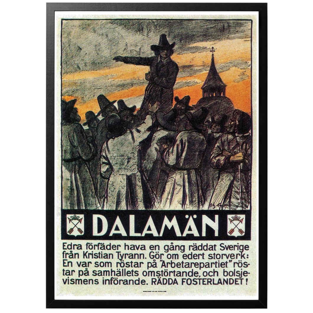 Men of Dalekarlia save the fatherland Poster - World War Era