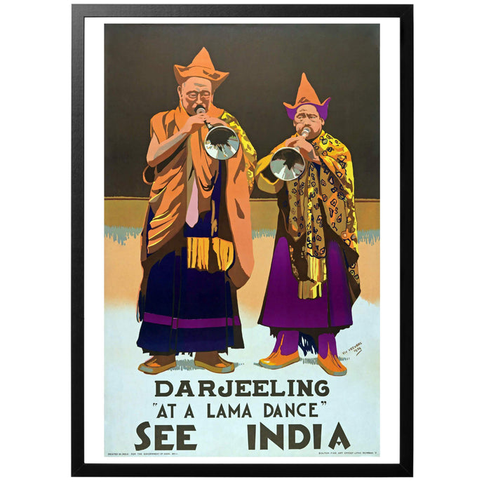 Darjeeling - See India Poster - World War Era