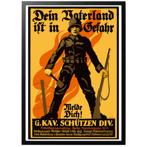 Dein Vaterland Ist In Gefahr Poster - Your Fatherland is in danger - German world war 1 poster