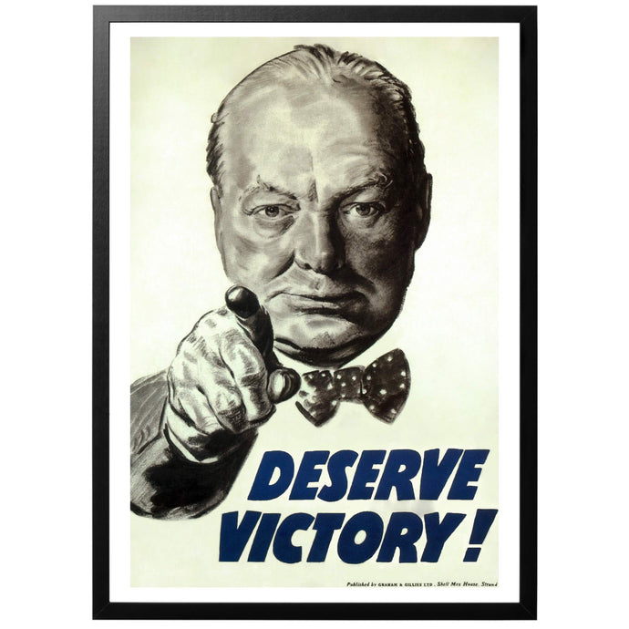 Deserve Victory! Poster - World War Era